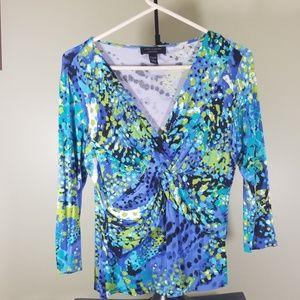 Cable & Guage Print Shirt